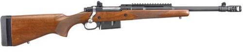 "Ruger Gunsite Scout, .450 Bushmaster, 16.1"", Walnut Stock, Black"