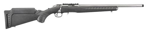 """Ruger American Rimfire, 22LR, 18"""" Barrel, Synthetic Black Stock Stainless Steel, 10rd"""