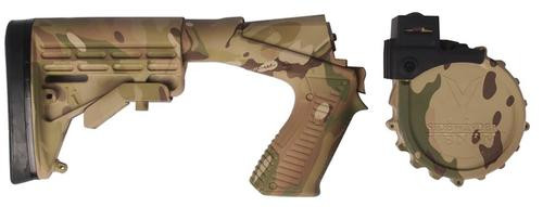 Adaptive Tactical Mossberg 590 Venom SE Box Conv Kit, 590, M4 Style Stock, MultiCam, 10rd