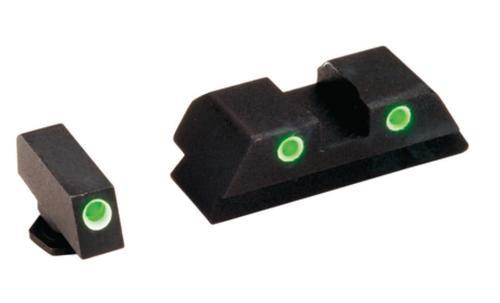 AmeriGlo Classic STS Glock 45 ACP/10mm Night Sight Set, Green/Green