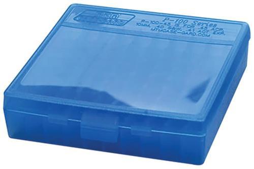 Lewis Machine & Tool P-100 Fliptop Box 22LR, Clear Blue