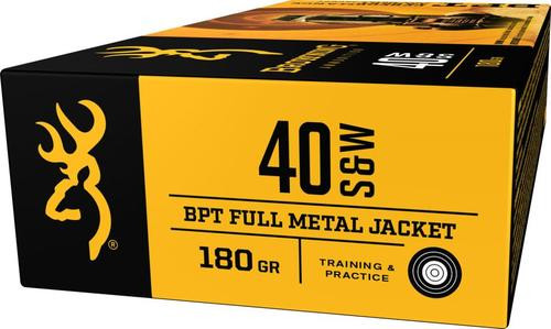 Browning BPT Performance 40 S&W 180gr, Full Metal Jacket, 50rd Box