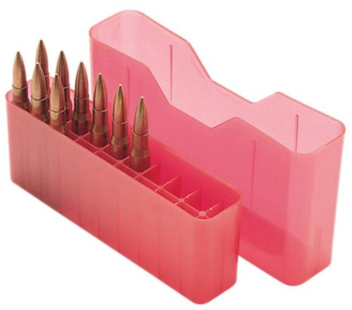 MTM 20rd Slip-Top Lg Rifle Ammo Box Red Poly