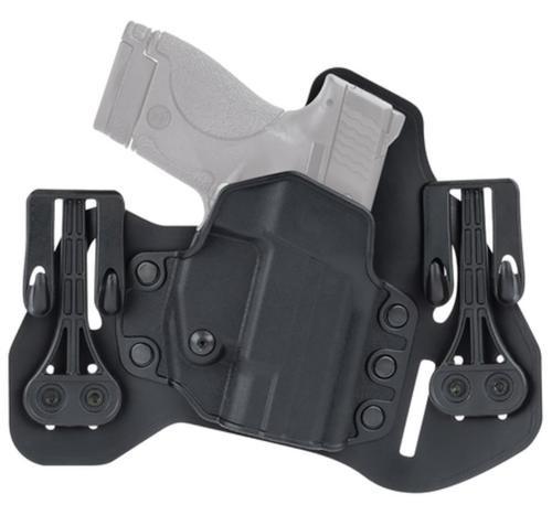 Blackhawk Leather Tuckable Pancake Holster for Glock 9/.40/.357, Left Hand, Black