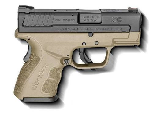 Springfield XDG Mod.2 Sub-Compact .40 Smith and Wesson 3 Inch Barrel Flat Dark Earth Two 9 Round Magazines