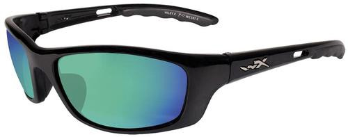 Wiley X Eyewear P-17 Safety Glasses Gloss Black/Pol, Mirror