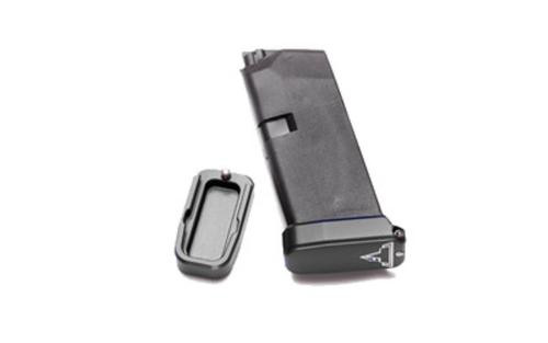 Taran Tactical Innovation, Firepower Base Pad for Glock 43, +1, Small, Titanium Gray Finish