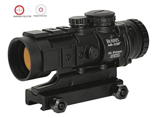 Burris AR Tactical AR-332 Prism Sight, 3X - 32mm, Ballistic / CQ Reticle, Matte