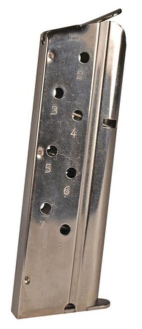 Springfield 1911 Magazine 40 S&W, Metal, Stainless Finish, 8rd