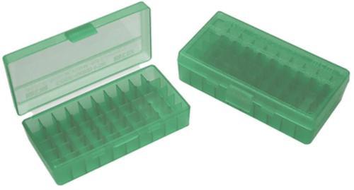 MTM Case Gard Pistol Box 9mm-380, Green, 50rds