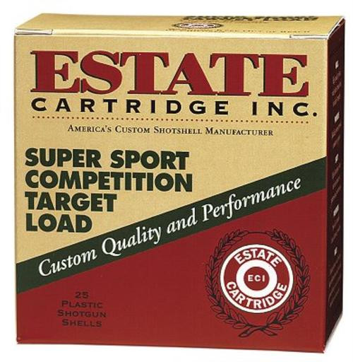 Estate Super Sport Target 12 Ga, 1 1/8oz, 7.5 Shot, 25rd/Box