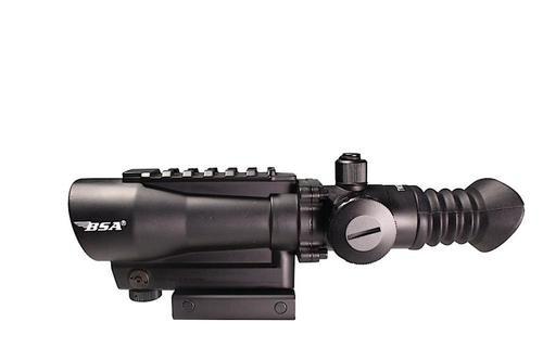 """BSA Tactical 1x 30mm Obj 2"""" Eye Relief Black"""