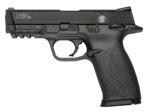 "Smith & Wesson M&P 22 Single 22 LR 4"" Threaded Barrel,,  Black Polymer,  10 rd"