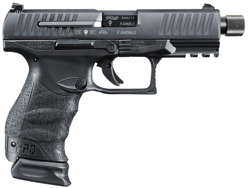 "Walther PPQ M2 Navy SD 9mm 4.6"" Barrel Black 1-17Rd/1-15Rd, 2 Mags"