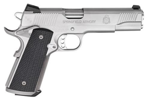 "Springfield 1911 45 ACP, 5"", 7rd, Black G10 Grip, Stainless Steel"