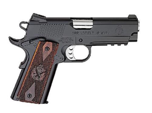 "Springfield 1911 45 ACP, 4"", 7rd, Cocobolo Grips, Black Armory Kote"