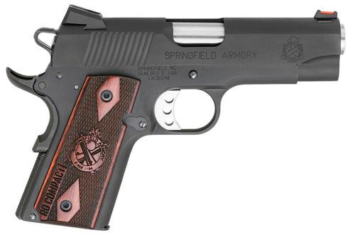 "Springfield Range Officer Compact 1911, 45 ACP, 4"", 6rd, Rosewood Grips"