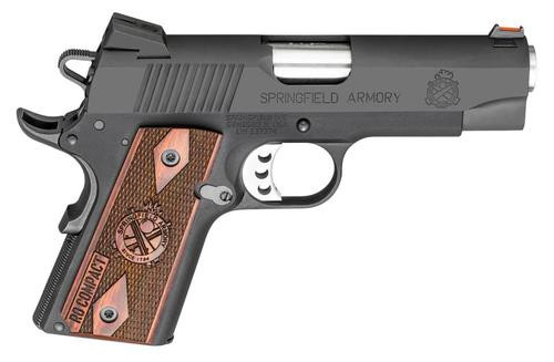 "Springfield Range Officer Compact 1911 9mm, 4"", 8rd, Rosewood Grips"
