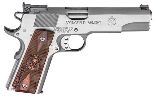 "Springfield Range Officer 9mm, 5"", 9rd, Cocobolo Grips, Stainless Steel"