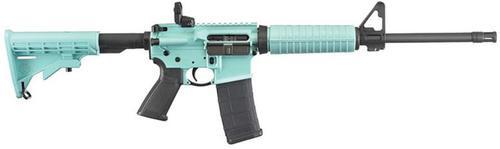 "Ruger AR-556 5.56mm 16"" Barrel TURQUOISE BLUE 30rd Mag"