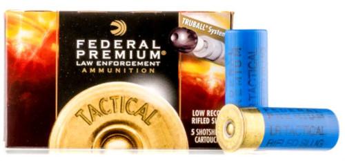 """Federal Truball Lo Recoil Rifled Slug HP 12 Ga, 2-3/4"""", 1oz"""