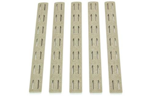 "Bravo Company, KeyMod Rail Panel Kit, 5.5"", Flat Dark Earth, 5 Pack"