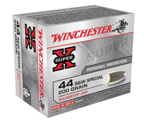 Winchester Super X 44 Special Silvertip HP 200gr, 20Box/10Case