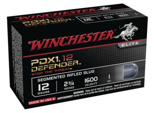 Winchester PDX1 Defender Segmenting Slug 12 Ga, 2.75 Inch, 1 Ounce, Segmenting Slug, 10rd/Box