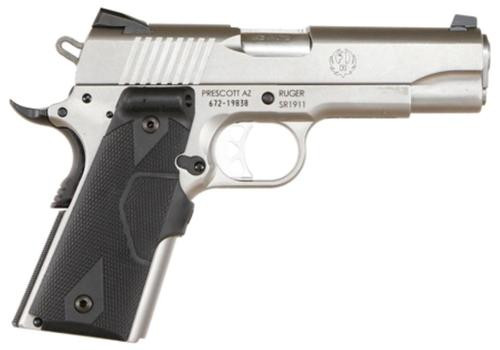 "Ruger SR1911 Single 45 ACP 4.25"" Barrel, Black Synthet, 7rd"