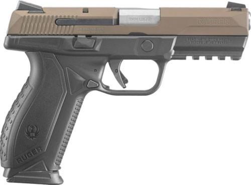 """Ruger American 9mm, 4"""" Barrel, Borwn Cerakote Slide 17rd Mag"""