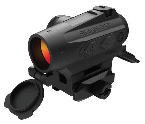 Sig Romeo4T Red Dot Optic, 1x, Circle Plex Reticle, MOA Adj, Solar/CR2032 Powered