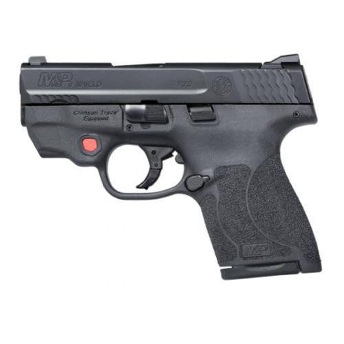 "Smith & Wesson M&P9 Shield M2.0, 9mm, Integrated Crimson Trace Laser, 3.1"", 7/8rd, NO THUMB SAFETY"