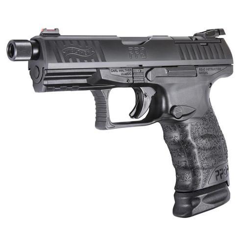 "Walther PPQ M2 Q4 TAC 9mm, 4"" Threaded Barrel, Optic Ready, 15rd"