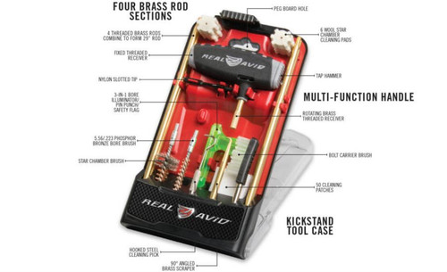 Real Avid/Revo Gun Boss Pro AR-15 Rifle Cleaning Kit