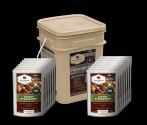 Wise Grab and Go 60 Serving Bucket, Dinner Entrees