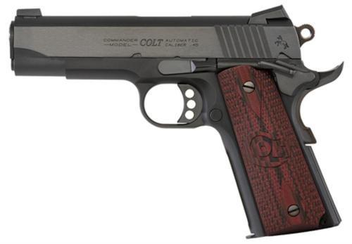 "Colt Lightweight Commander 9mm 4.25"" Barrel Blue Finish Novak Sights G10 Grips 8rd Mag"