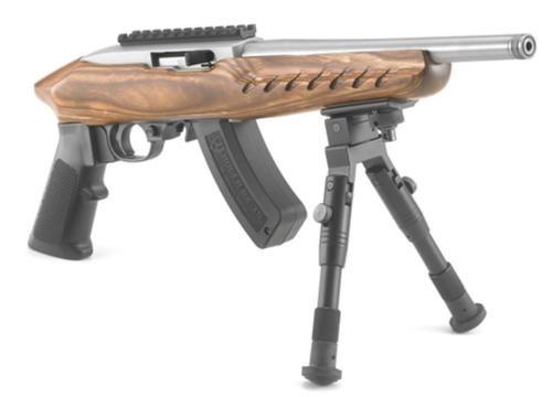 "Ruger Charger Pistol, 22LR, 10"" Barrel, 15rd, Threaded Barrel, Wood/Stainless"