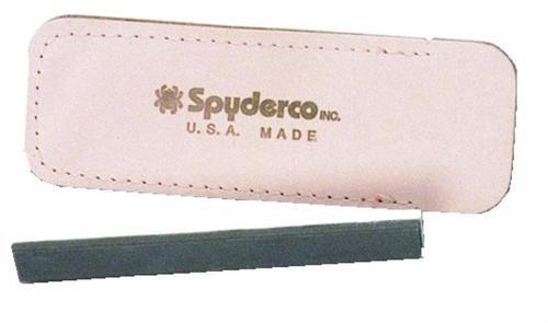 "Spyderco 302 Double Stuff 5"" Medium/Fine Ceramic Stone Leather Sheath"