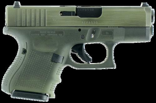 "Glock G26 Gen 4 Double 9mm 3.42"",  Olive DrabGreen Interchangeable Backstrap Grip Olive DrabGreen Battleworn,  10 rd"