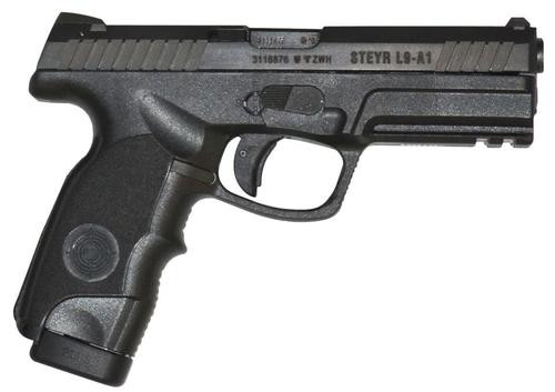 Steyr L9A1 9mm, Black, Fixed Sight, 17 Round, Long Slide