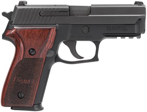 "SIG P229 w/Rail 9mm 3.9"",  NS Rosewood Grip Black,  15 rd"