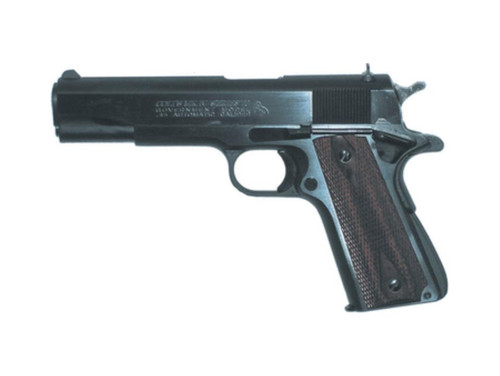 """Colt Series 70 Government 45ACP 5"""" Barrel Blue Finish Rosewood Grips Fixed Sights 7rd"""