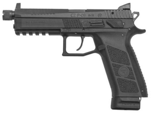 CZ P-09 SR 9mm, Black, 21rd, Night Sights, Threaded Barrel