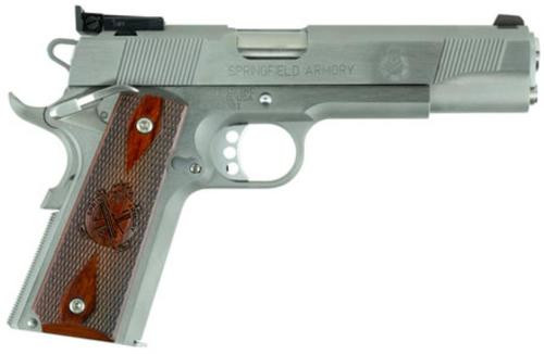 "Springfield 1911 Target, 45 ACP, 5"", 7rd, Stainless Steel"