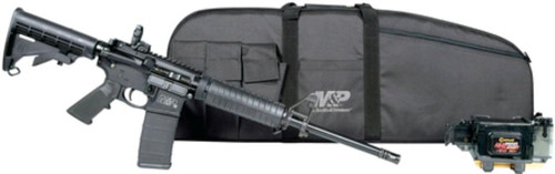 "Smith & Wesson M&P 15 Sport II Kit 5.56/223, 16"" Barrel, Flip Sights, Caldwell Mag Charger, Gun Case, 30rd Mag"