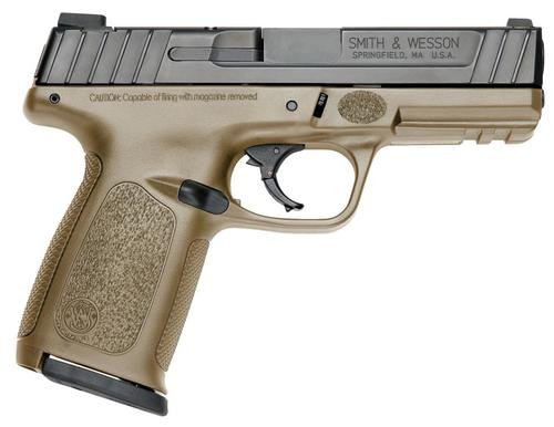 "Smith & Wesson SD9 Striker Fired 9MM, 4"" Barrel, Flat Dark Earth Frame16Rd, 2 Mags"