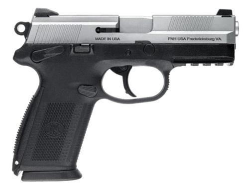 "FN FNX-9 9mm, DA/SA, 4"", 17rd, Black/Stainless Steel, Manual Safety"