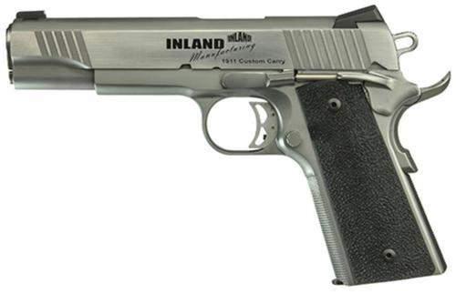"Inland Mfg. 1911 Custom Carry, 45 ACP, 5"", 7rd, Black Ergo XT Grip"