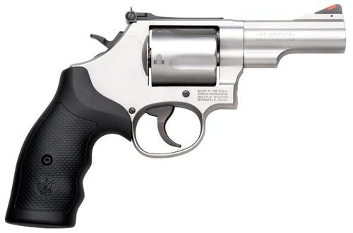 "Smith & Wesson 69 .44 Magnum, 2.75"" Barrel Stainless Finish, Rubber Grips, Adjustable Sights, 5 Rounds"