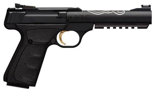 "Browning BuckMark Lite UFX, 22LR, 5.5"", 10rd, Black Ultragrip FX, Fiber Optic Sights"